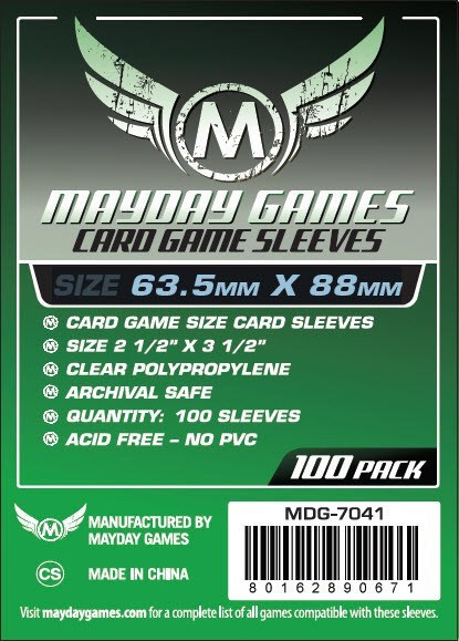 1.000 Mayday Board Card Game Sleeves Clear 63.5 x 88-10 Packs Standard